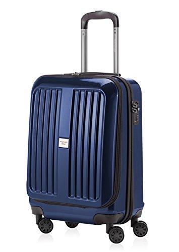 TROLLEY bagaglio a mano principale città valigetta doppio profibohrer XBERG blu scuro con chiusura TSA-castello stlty 42 litri + valigetta Ciondolo in nero