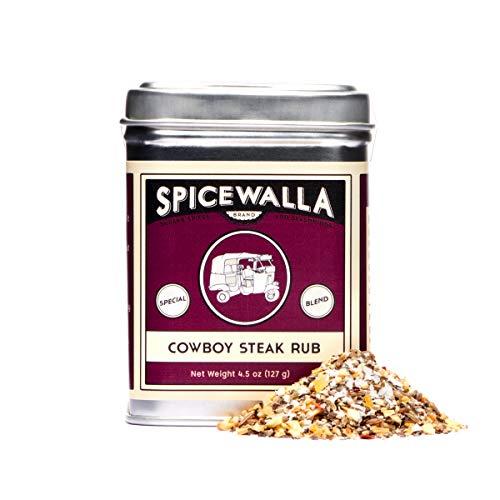 Spicewalla Cowboy Steak Seasoning 4.5 oz | Salted, Non-GMO, No MSG, | Steak Rub...