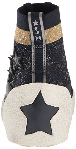 Women's Sneaker Ninja Ash Navy Calf Star Sand Knit Silver Navy dvtRPRB