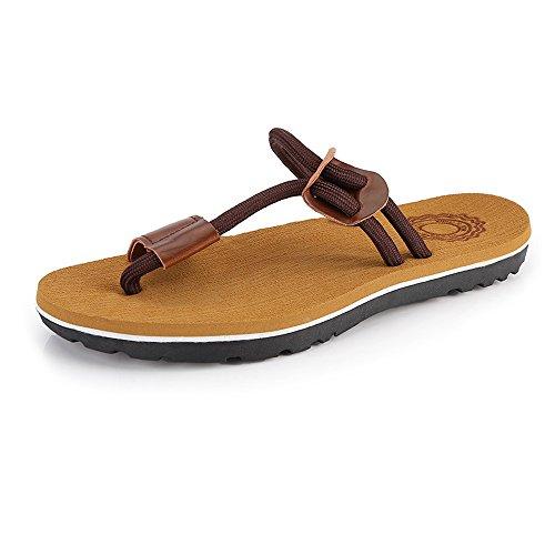 Marrone piatti EU Infradito Sandali corda Scarpe Brown morbidi Color Mens da shoes Sandali spiaggia 2018 Dimensione 38 casual antiscivolo uomo Infradito da ORAT1qw
