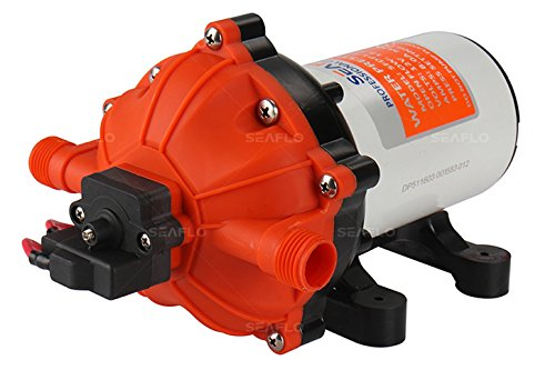 SEAFLO 12V 5.5 GPM 60 PSI Water Diaphragm Pressure Pump ()