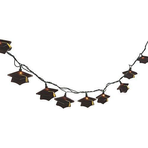 Fun Express - Grad Mortarboard Light Set for Graduation - Home Decor - Outdoor - Lighting - Graduation - 1 -