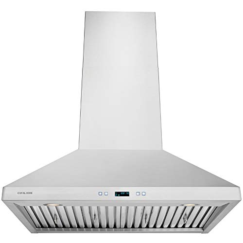 CAVALIERE 30″ Inch Range Hood Wall Mounted Stainless Steel Kitchen Vent 860 CFM