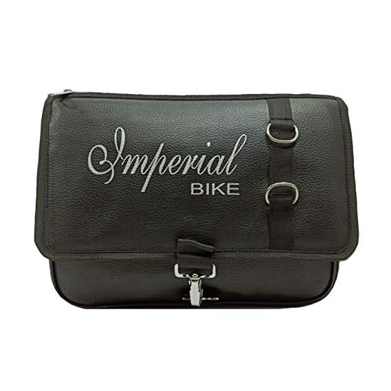 GOLDLINE Stylish Imperial Bike Bag/Motorcycle Seat Pack Bag/Side Bag/10L Motorcycle Saddlebag/Leatherette & Water