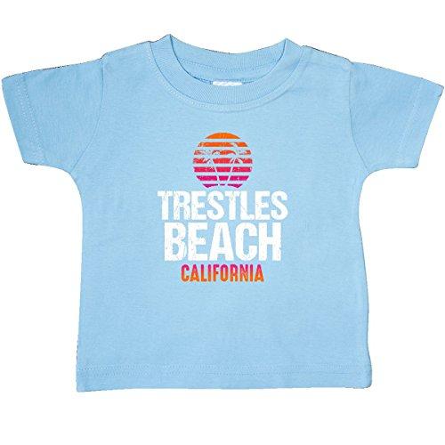 inktastic - Sunset Trestles Beach Baby T-Shirt 12 Months Light Blue 3054e ()