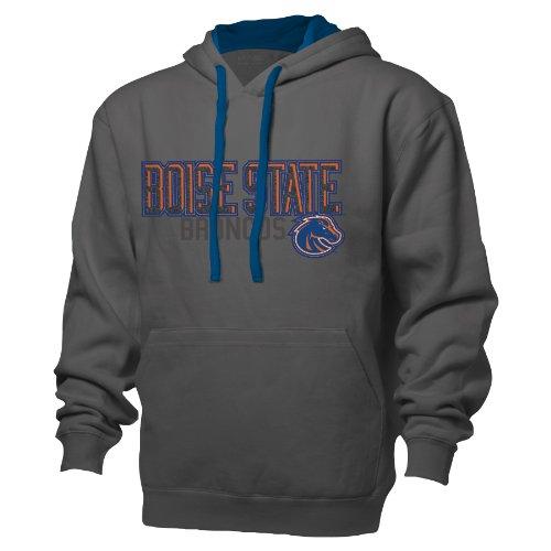 (NCAA Boise State Broncos Adult Men Benchmark Color Block Full Zip HoodieXL)