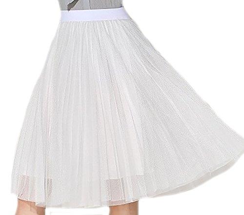 erdbeerloft - Falda - Opaco - para mujer Weiß