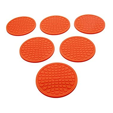 Coasters by Simple Coasters - The Best Drink Coasters and Bar Drink Coasters - These Coasters for Drinks Won't Stick to Your Glass - For Indoors or Outdoors - Great for Hot or Cold Beverages (Orange)