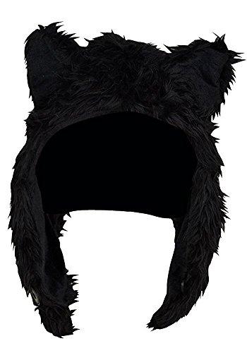 Black Bear Half Animal Hoodie/Hat (Faux - Black Bear Hat