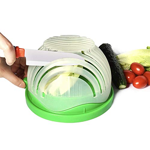 (Salad Cutter Bowl Upgraded Easy Salad Maker, Fast Fruit Vegetable Salad Chopper Bowl Fresh Salad Slicer FDA-Approved)