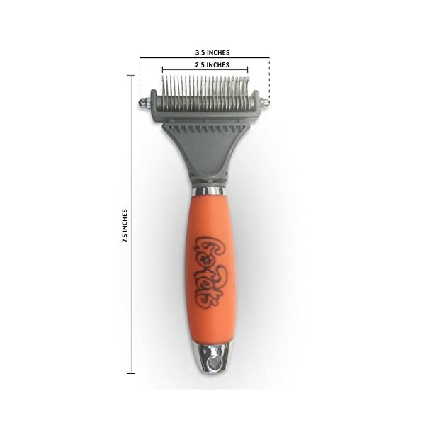 GoPets Dematting Comb with 2 Sided Professional Grooming Rake for Cats & Dogs 3