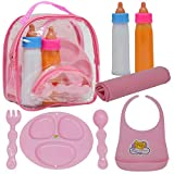 The New York Doll Collection Baby Doll Accessories, Doll Magic Bottles & Doll Feeding Set in A Bag, Multicolor