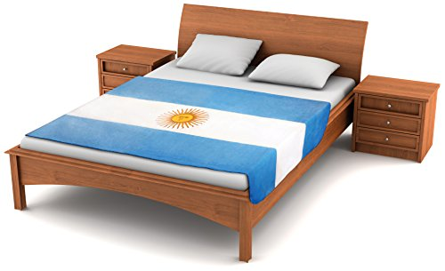 Fuzzy FlagsTM Fleece Argentina Flag Blanket - 80-inches x 50-inches Oversized Travel Throw Cover