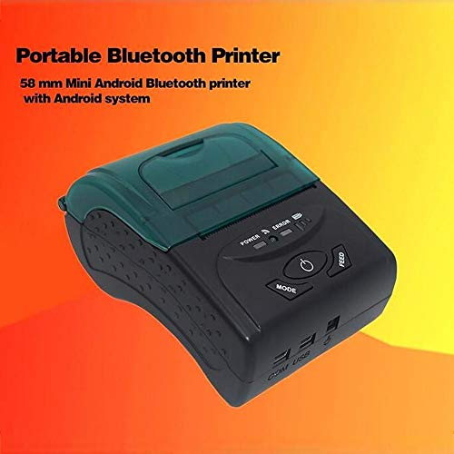 DLMZY POS-5807 Thermal Printer Wireless Bluetooth 4 0 Printer Portable  Printer for iOS and Android Systems,58MM USB Thermal Printer Compatible  with