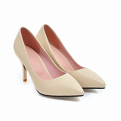 Mee Shoes Damen high heels spitz Geschlossen Pumps Beige