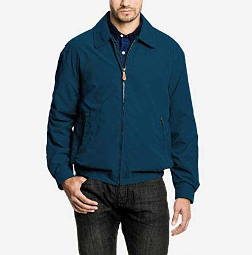 London Fog Men's Auburn Zip-Front Golf Jacket, Pacific Blue, ()