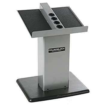 Image of Dumbbell Racks POWERBLOCK Personal Trainer Stand Silver Large Column Stand (Silver)