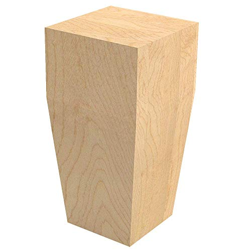 (Designs of Distinction Square Craftsman Foot for Cabinets, Furniture, and More - Raw/Unfinished Hardwood - Sanded, Ready to Finish with Stain or Paint - Made in The USA - 01705112-1)