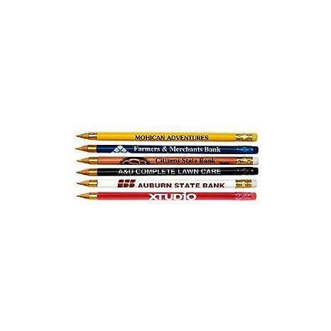 Amazoncom 300 Custom Pencils Promotional Wooden Pens With Eraser