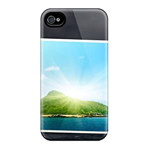 Durable Sunny Photo Art Back Case/cover For Iphone 4/4s