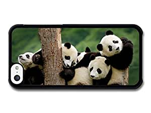 Diy iphone 5 5s case Accessories Adorable Cute Panda Bears Hugging On A Tree case for iPhone 5 5S