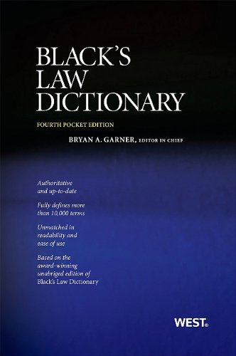 Black's Law Dictionary, Pocket Edition, 4th