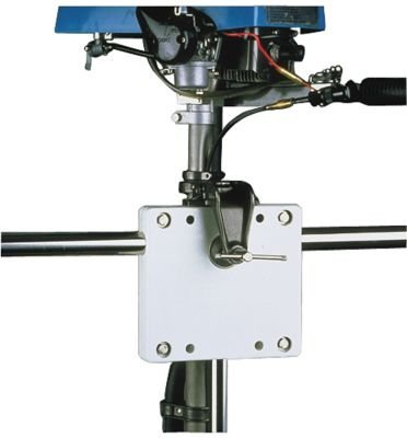 (Sea-Dog Line Rail Mount Motor Brackets, rail mount poly motor bracket white)
