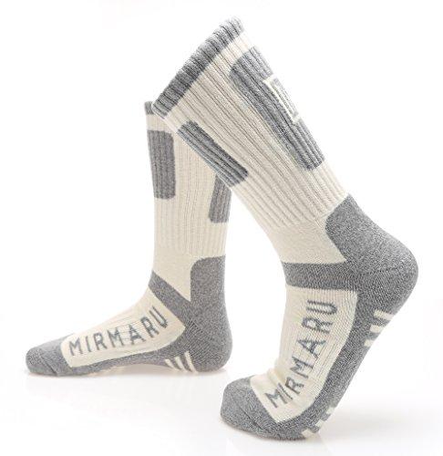 MIRMARU Women's 5 Pairs Multi Performance Outdoor Sports Hiking Trekking Crew Socks