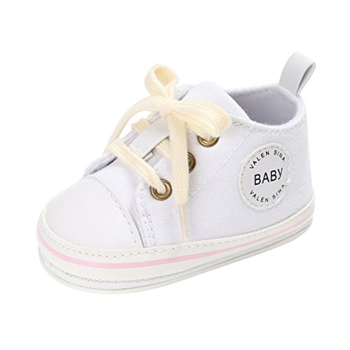 (Weixinbuy Baby Boy Girl Vintage Classic Lace-Up Casual Running Sneaker Shoes White)