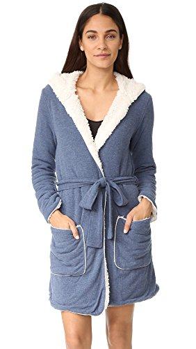 Splendid Women's Cozy Lounge Robe, Navy Heather, Large