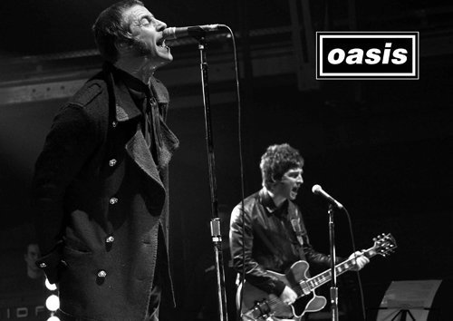 OASIS - 6 - A4 NOEL & LIAM GALLAGHER - Music band - music legends - Poster - print - picture by Salopian Sales Liam Gallagher Oasis