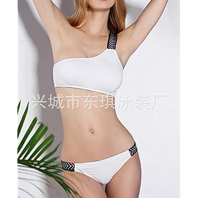 Le président split _ maillot bikini maillot de bain confortable moderne split une épaule plus basse retour maillot