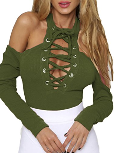 Prograce Knitted Bodysuit Shoulder Leotard