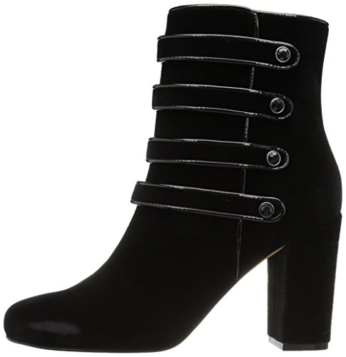 Sadie Women's Boot Inspired The Four Fix Black Velvet Strap Military Ankle E14Zq