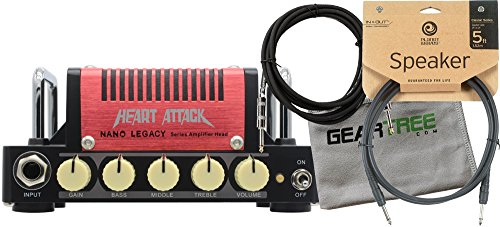 Hotone Mini Amp (5 watts) Heart Attack - Mesa Rectifier w/ Polish Cloth, Instrument Cable, and Speaker Cable by Hotone