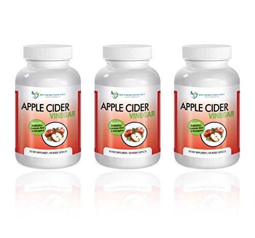 Doctor Recommended 1500 mg Organic Apple Cider Vinegar Capsules - Detox and Cleansing Support - Promotes Gut Health - Includes Probiotics - Made with Coconut, Aloe, and Astragalus - Made in the USA