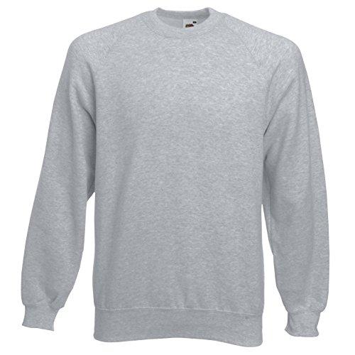 Of Hombre Fruit The Heather Sudadera Loom Sweatshirt Grey Raglan d7pqwY7