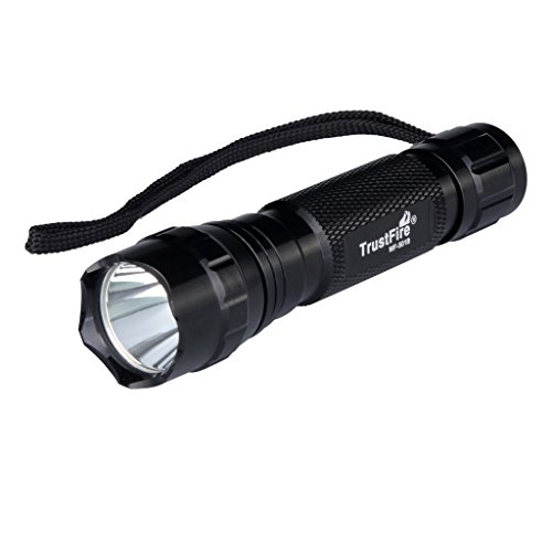 TrustFire Complete Set Tactical Gun Flashlight for Pistol Weapon Mounted Handgun Torch Law Enforcement Convenient for Patrol Officers Cree T6 LED (501B)