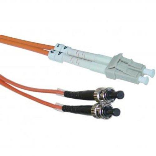 Micro Connectors, Inc. Fiber Optic Cable LC/ST MM Duplex 62.5/125 - 5 Meters (Micro Connectors Fiber Optic Duplex)