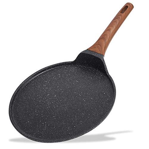 ESLITE LIFE Crepe Pan Pancake Dosa Tawa Pan Nonstick Flat Griddle Frying Skillet Pan for Omelette, Tortillas, Induction…