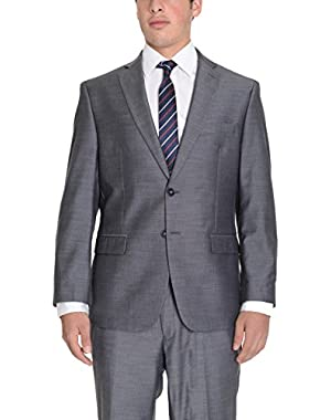 Calvin Klein Steel Slim Fit Gray Textured Two Button Suit