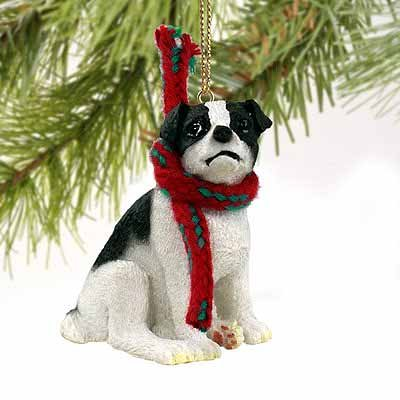 - Jack Russell Terrier Miniature Dog Ornament - Black & White