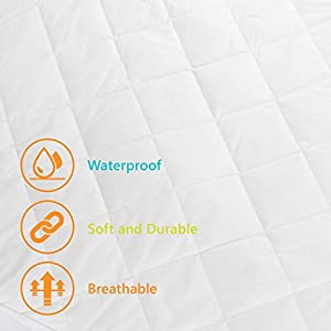 Crib Mattress Pee Protector - BabyBubz Waterproof Pad Cover - 4 Ply Natural Organic Cotton Fiber - Fitted, Soft, Breathable, Non-Toxic, Hypoallergenic for Baby, Infant, Toddler