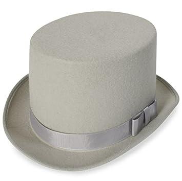Zylinder Hut Edel Optik Grau Mit Satinband Und Schleife 57 Cm