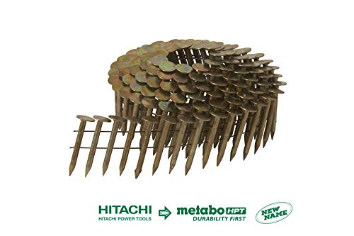 Hitachi 12111 Wire Coil Electro Galvanized Roofing Nails (7200 Pack)