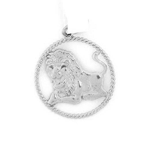Jewelry Liquidation 14k Solid White Gold Leo Zodiac Charm Pendant