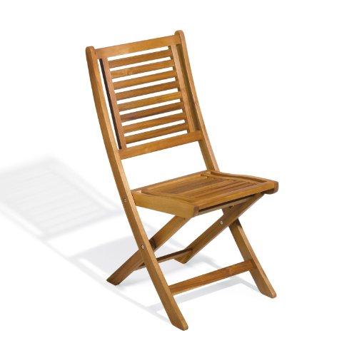 Oxford Garden Capri Acacia Folding Chair  2 Pack