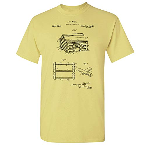 Lincoln Logs T-Shirt, Architecture Gift, Toy Maker, Building Toys, Uncle Toms Cabin, Construction Toys, Wooden Block Cornsilk (Medium) from Patent Earth