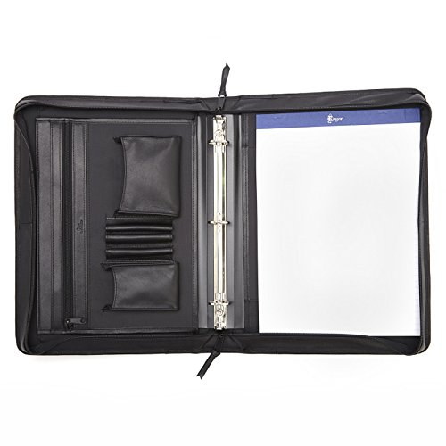 Deluxe Convertible Zip Around Binder (Black) (13.12