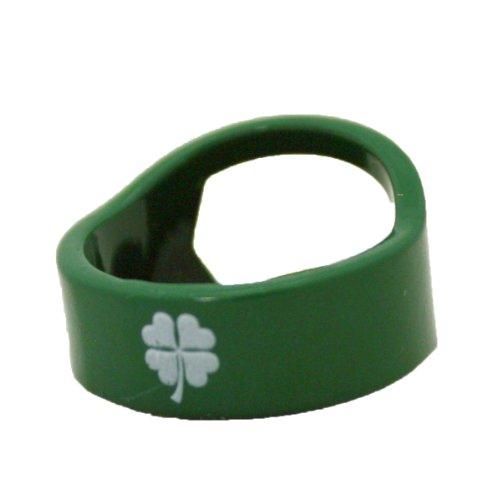 Island Dogs Clover Bottle Opener Ring, Green
